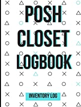 Posh Closet Logbook: Detailed Inventory Log For Reselling Items Online