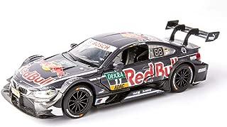 JPVGIA M4-DTM Rally Model Car Scale 1:32 Die Cast - Aleación de Puertas Totalmente funcionales Pullback Action Race Car Model Collection Decoración (Color : Black)