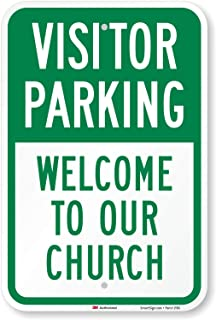 guest parking signs church