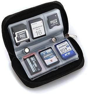 Hommy メモリーカードキャリーケース - SDHCとSDカード向け - 8 ページと22スロット