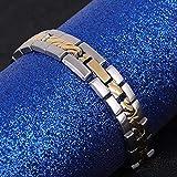 Pulsera de acero de titanio sin alergia delicada simple, regalo de joyería curativa, para hombres antifatiga
