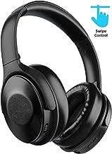 MEBUYZ Auriculares inalámbricos con cancelación de ruido activo, Bluetooth 5.0, control táctil, carga rápida sobre la oreja con micrófono de sonido de alta fidelidad, 30 horas de reproducción, almohadillas de proteína suave con piel sintética