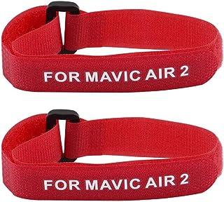 xiaoyao24 2 st propellerblad tejpband fästhållare fast bälteskrok kabelband band band kompatibel för D-JI Mavic Air 2 drön...