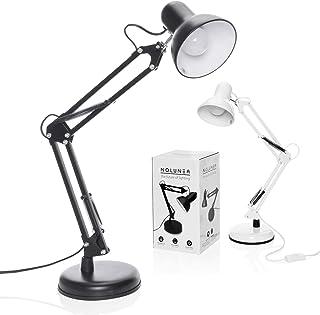 Lampe de travail rétro lampe de lecture bureau flexible table lampe de chevet lampe d'architecte à bras articulé en métal ...