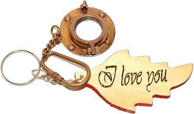 Amazon.com: Eve store Antique Brass Porthole Mirror Key ...