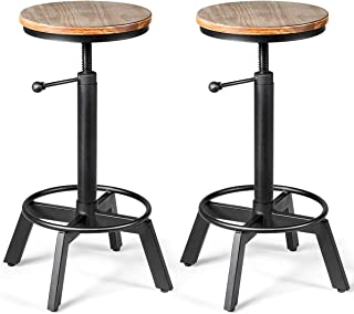 Best 2 wooden bar stools Reviews