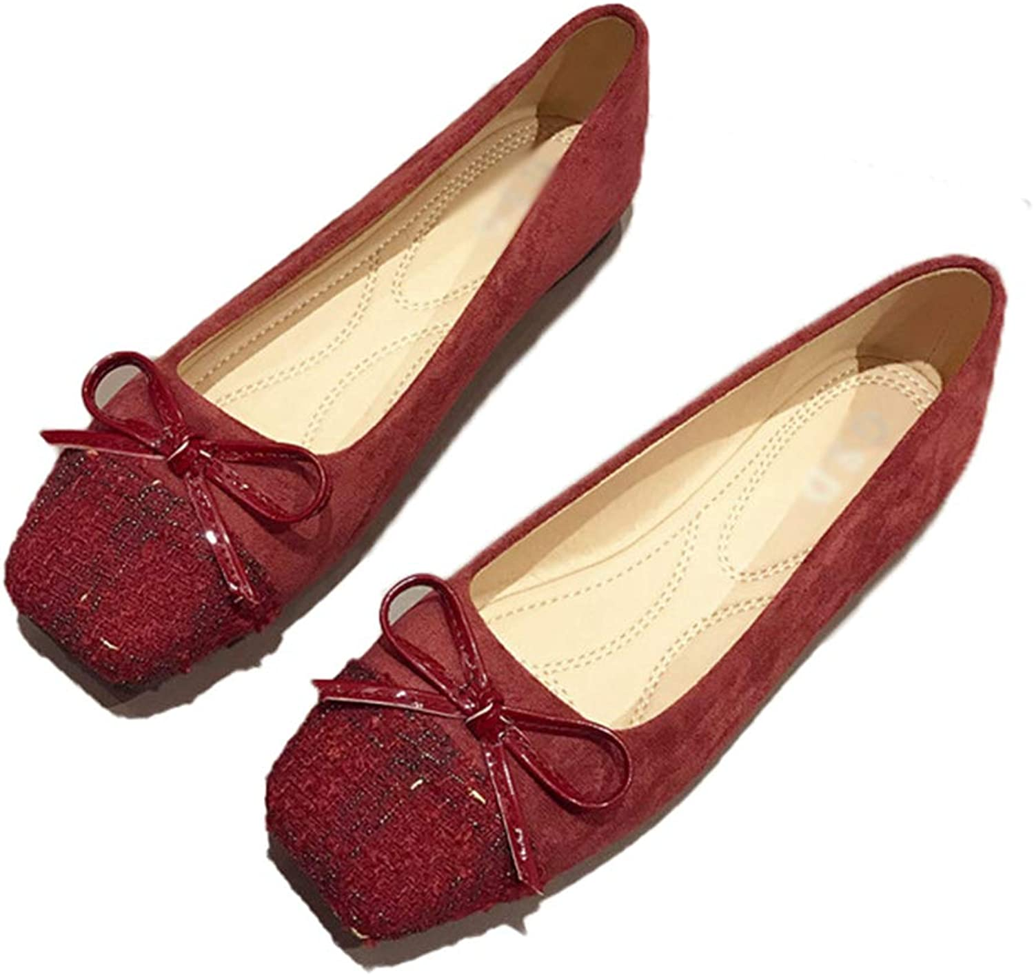 Kyle Walsh Pa Women Ballet Flats shoes Slip-on Bowknot Ladies Soft Comfortable Moccasins