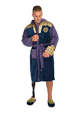 Marvel Thanos Bathrobe Men's Nightwear Dressing Gown Birthday