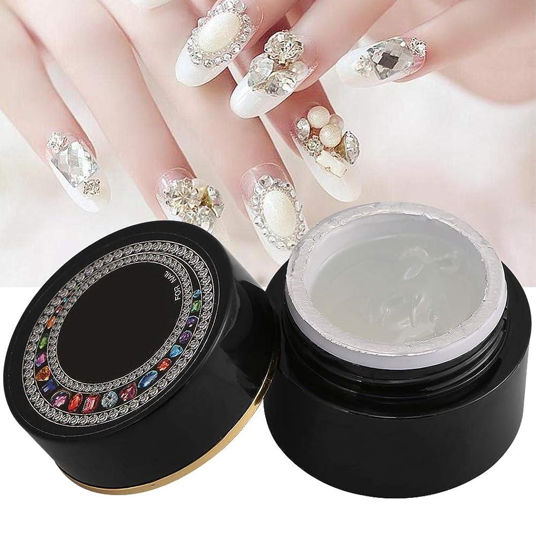 ジャンルオーバーフロー称賛爪の接着剤、ブリンブネイルツールの装飾ラインストーンのアクセサリー厚手の接着剤プロの革命的なマニキュアのヒント爪ビルダの透明なモデリング