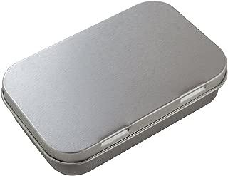 Metal Hinge Top Steel Tin Container - 3 oz Medium - Rectangular for Storage, Travel, Gifts (5 Pack)