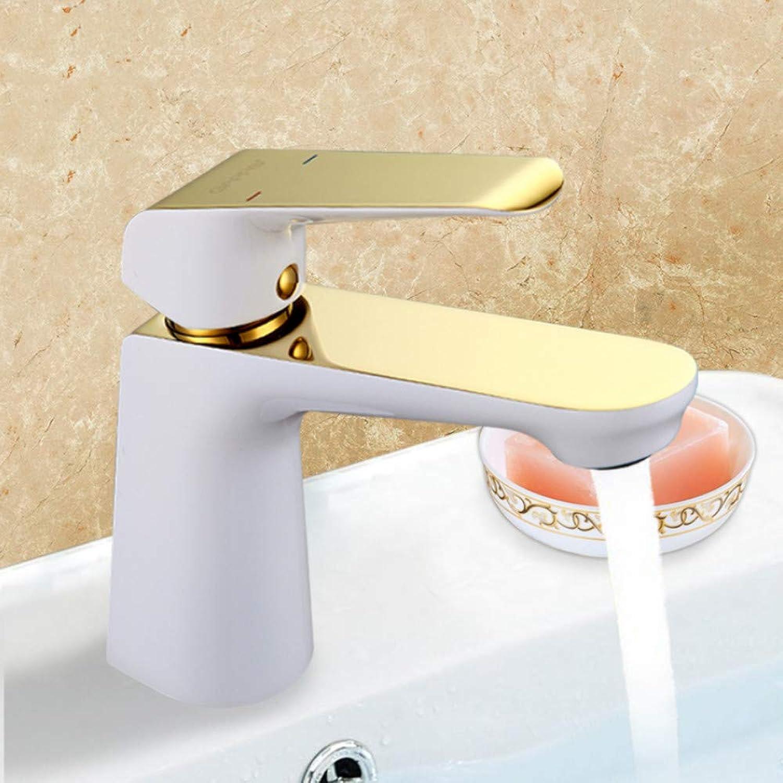 Ayhuir gold Bathroom Basin White Faucet Bathroom Sink Mixer Waterfall Wash Basin Mixer Sink Tap Faucet Taps