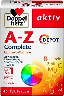 Doppelherz A-Z DEPOT فيتامينات طويلة الأجل - مكملات فيتامينات متعددة مع العديد من الفيتامينات والمعادن والعناصر الشبيهة - ...