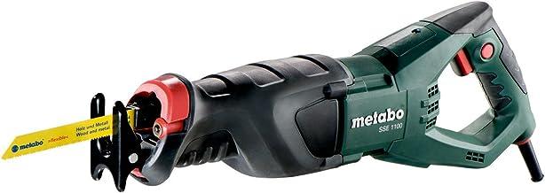 Metabo 606177500 606177500-Sierra de Sable SSE 1100W con maletín, 1100 W, 240 V, Negro