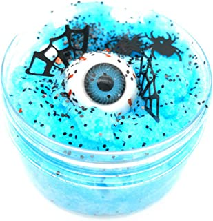 Gbell Newest Halloween Scary Eyeball Fluffy Cloud Slime Fairy Putty Mud,100ml Jumbo Floam Slime Stress Relief Toy Scented ...