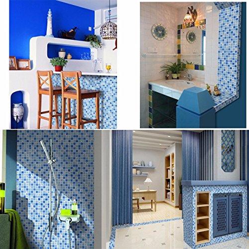 Bazaar Imperméable à l'eau de cristal mosaïque 3D carreaux autocollant pour salle de bains décor
