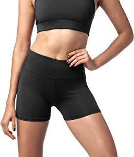 LAPASA Sports Shorts for Women, High Waist with Hidden Mini Pocket (Tummy Control Yoga Short. Plus L09