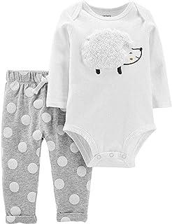 Carter's 2-Piece Hedgehog Bodysuit Pant Set - 18 Months White