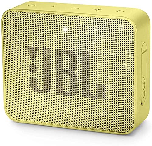 JBL GO 2 Altavoz Bluetooth portátil, Impermeable IPX7, con micrófono, hasta 5 Horas de autonomía, Amarillo