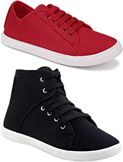Axter Women Multicolour Latest Collection Sneakers Shoes- Pack of 2 (Combo-(2)-1207-5003)