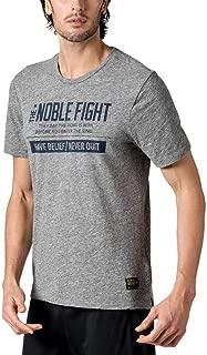 Reebok UFC Men's Grey The Noble Fight Combat Lifestyle Snow Slub T-Shirt AJ9099