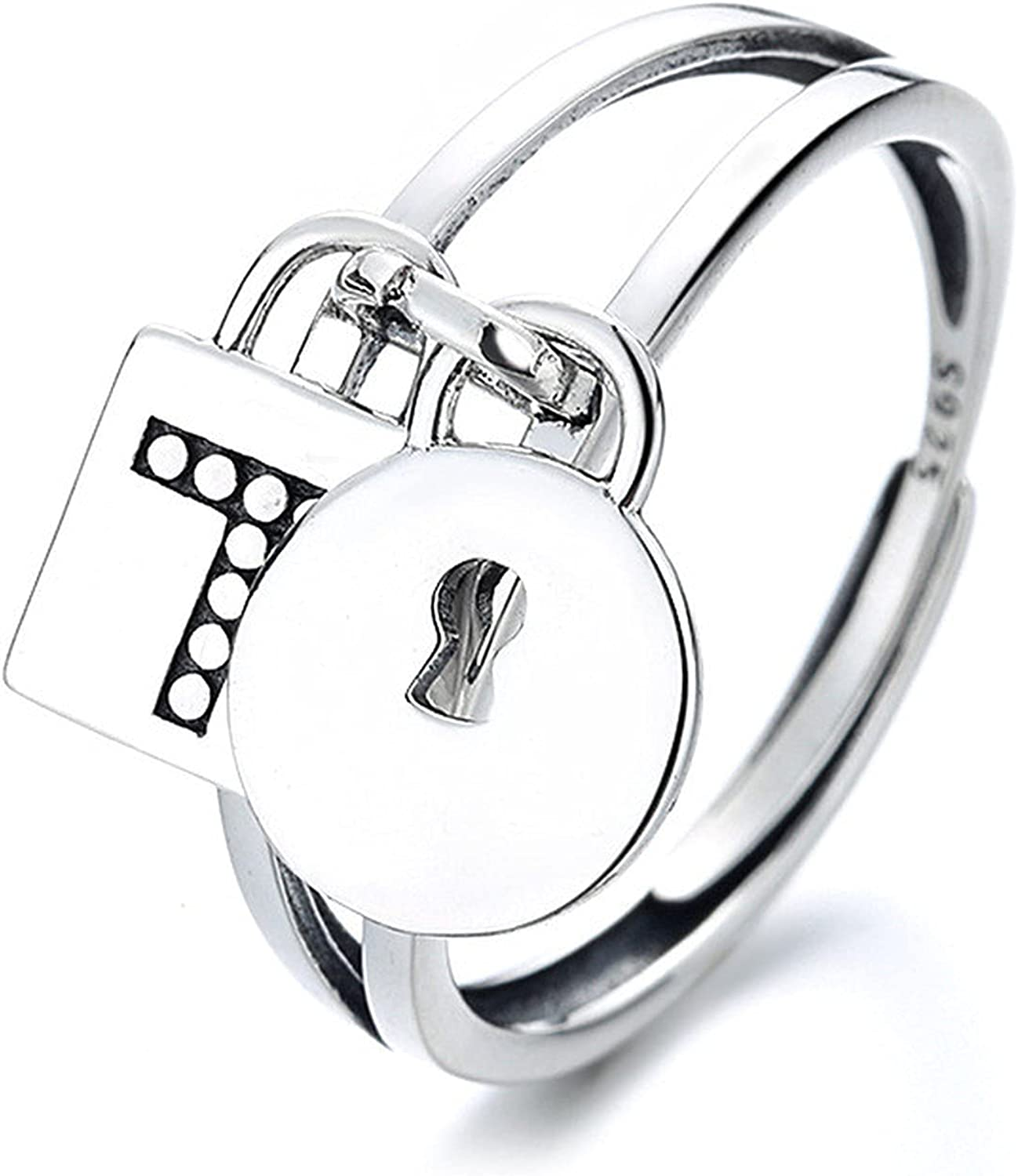 S925 sterling silver simple hollow Max 60% OFF tassel creative lock pendant latest