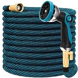 Tuyau d'arrosage extensible de 30,5 m – Tuyau d'arrosage flexible avec buse 10 fonctions, durable 3750D, connecteurs en…