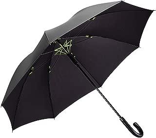 二層傘骨構造 Vialifer レディース メンズ 長傘 超軽量 大雨対応 テフロン撥水 グラスファイバー ワンタッチ 梅雨 頑丈 紳士長傘 ゴルフ用傘