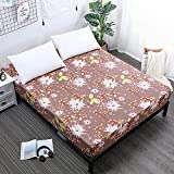 CYYyang Protector de colchón Acolchado - Microfibra - Transpirable Sábana Impermeable con Barrera de orina y Antideslizante -1_90cmX200cmX30cm