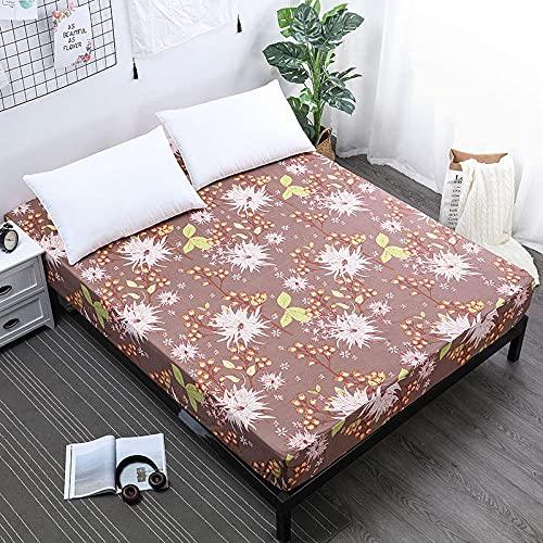 CYYyang Protector de colchón Acolchado - Microfibra - Transpirable Barrera de orina de sábana Impermeable y Antideslizante -1_150cmX200cmX30cm
