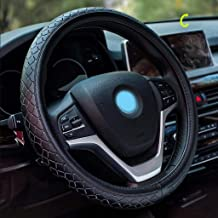"""BFZJ covers Genuine Leather Car Steering Wheel Cover Four Seasons Universal Super Soft Non-Slip Breathable Protective Cover Universal 15""""/38cm"""