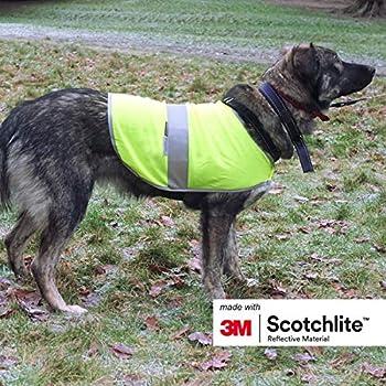 Salzmann 3M Manteau pour Chien Réfléchissant | Fabriqué avec 3M Scotchlite | Gilet de Sécurité pour Chien de Haute visibilité | Taille S