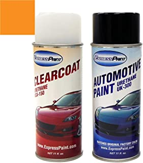 ExpressPaint Aerosol - Automotive Touch-up Paint for Nissan 350Z - Lemans Sunset Metallic Clearcoat A17 - Color + Clearcoat Package