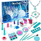 G.C Makeup Advent Calendar 2021 for Girls 24 Days Christmas Countdown Calendar with Makeup Kit Kids Beaded Necklaces Bracelets Jewelry Set for Boys and Girls