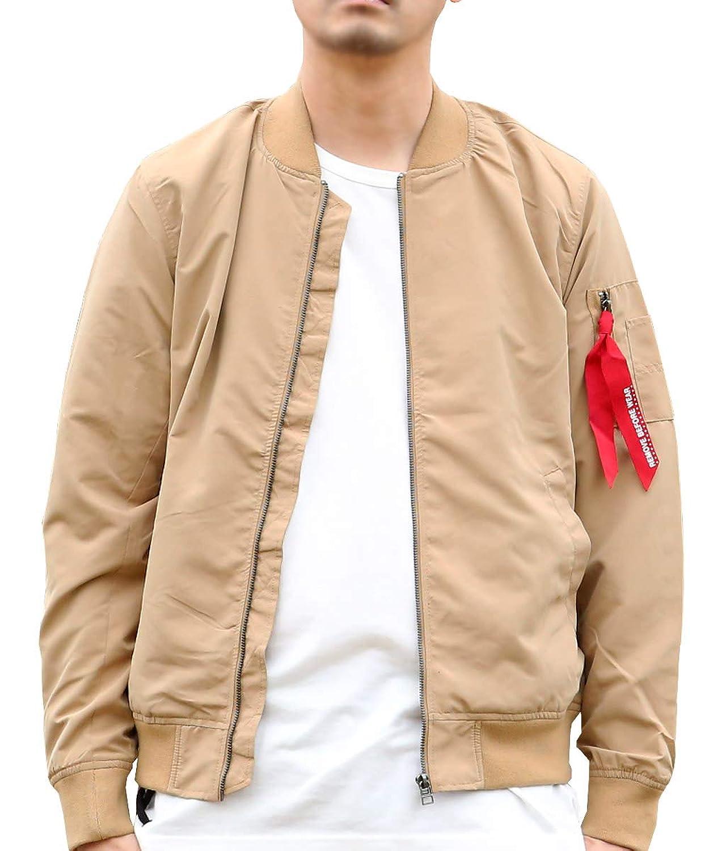 (アークティックプラント) Arctic Plant メンズ ポリエステル100% 長袖 ショート丈 ma-1 フライトジャケット