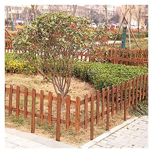 JIANFEI-Valla de jardín Valla De Madera Al Aire Libre Protección De Plantas Carbonización A Alta Temperatura Anticorrosivo, 12 Tallas, 3 Tipos De Compra (Color : 3pcs, Size : A-100x100x130cm)