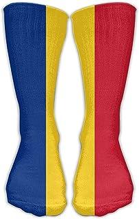 ulxjll, Medias De Compresión Bandera De Rumanía Sobre La Compresión Graduada Lo Mejor Para Enfermería Médica Casuel Vuelo Hermoso Regalo Calcetines Largos Niñas Medias Niños Rodilla Viaje Transpirable P