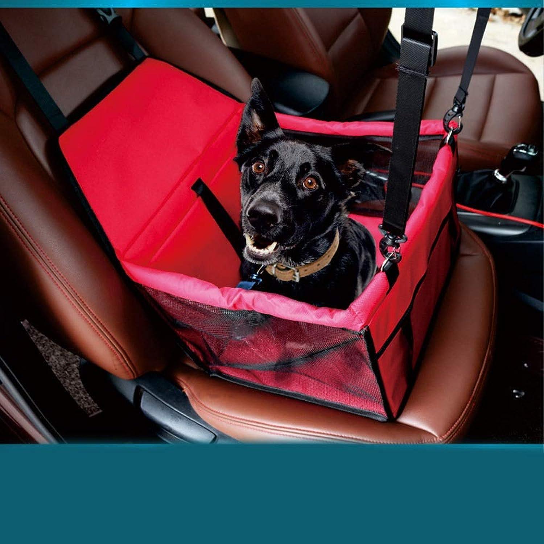 HUAyue Breathable Pet Car Bag Bivalent Fatheaded Waterproof Pet Car Mat Mesh Bag Car Bag (color   Red, Size   40  32CM)