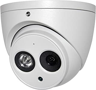 6MP Outdoor PoE IP Camera IPC-HDW4631C-A 3.6mm, Dome Security Camera with Audio, Built-in Mic, IR 164ft Night Vision, Smar...
