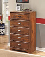 Ashley Furniture Signature Design - Barchan Chest of Drawers - 5 Drawers - Casual Replicated Cherry Grain - Medium Brown