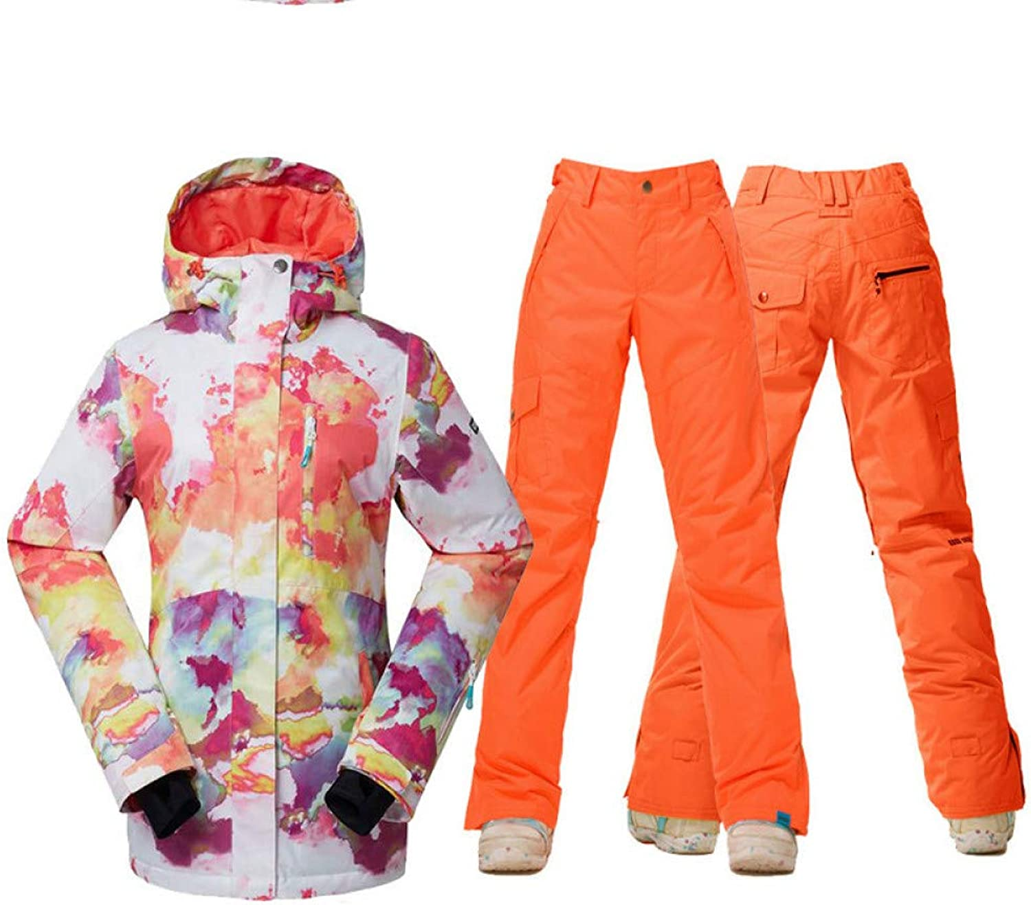 Zjsjacket ski Suit Women Snow Jackets and Pants Snowboarding Clothing Outdoor Sports Skiing Suit Sets Waterproof Windproof High Quality