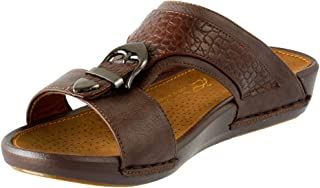 Traditional Style Arabic Sandals Men - Crocodile Texture, Light weight, Casual and Comfortable Arabic Slippers for men, non slip outsole