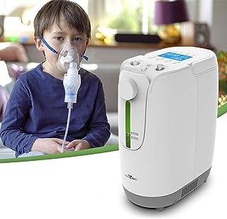 L&WB Zuurstofapparaat, groot, hoge resolutie, met dubbele absorptie van zuurstof, draagbaar, verstelbaar, 1-7 l