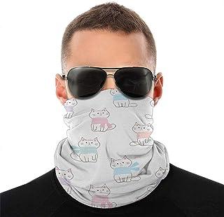 Nother Söt tecknad katt halsduk ansikte scarf skydd utomhus sport kvinnor män ansikte skydd variation ansikte handduk hals...