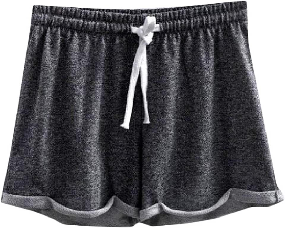 YULEgowinner Womens Drawstring Elastic Waist Sport Crimping Shorts