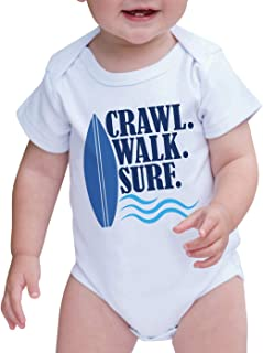 7 ate 9 Apparel Baby Boy's Crawl Walk Surf Summer Onepiece