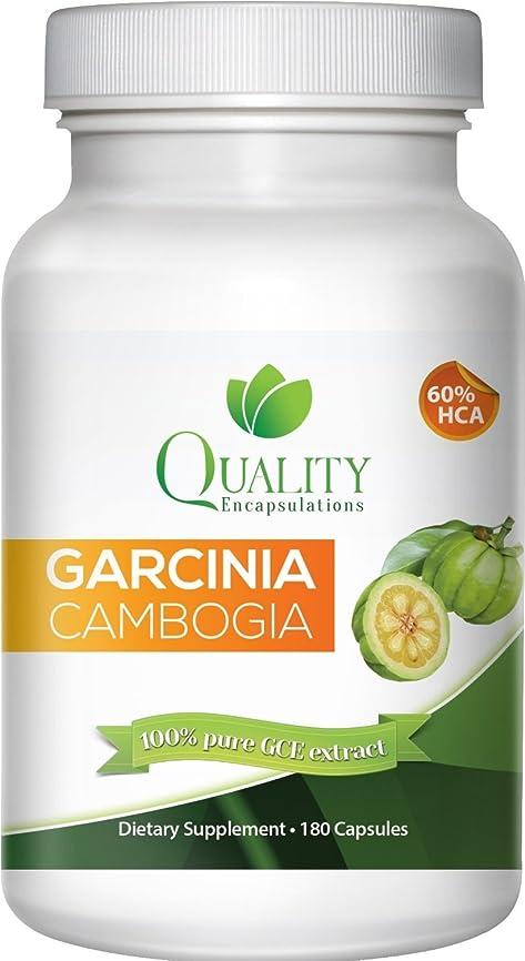 順番適応する押し下げるQuality Encapsulations ガルシニアカンボジア 180カプセル【並行輸入品】 100% Pure Garcinia Cambogia Extract with HCA, Extra Strength, 180 Caps Clinically Proven
