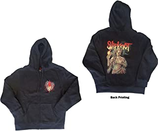 Slipknot 'Burn Me Away' (Grigio) Felpa con Cappuccio e Zip