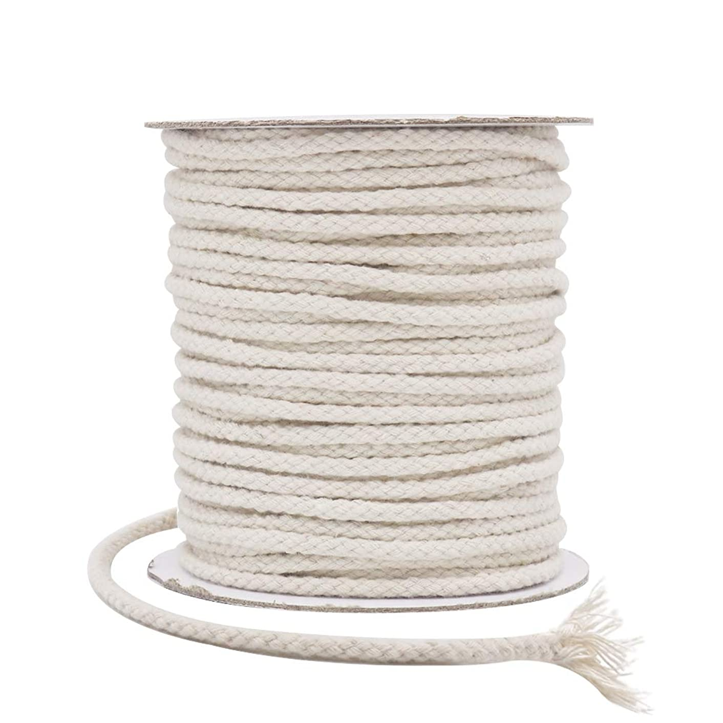 Tenn Well 5mm Macrame Cord, 165Feet Braided Cotton Macrame Rope for Plant Hangers Wall Hangings Dream Catchers DIY Crafts (Beige)