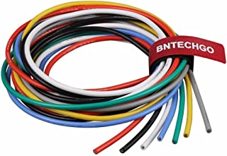 BNTECHGO 14 Gauge Silicone Wire Kit 7 Color Each 3 ft Flexible 14 AWG Stranded Tinned Copper Wire