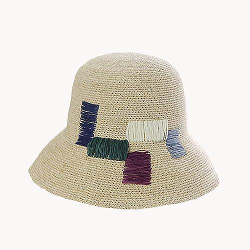 Ying xinguang Chapeau de Femmes Les voiturerés Couleurés brodent Le Chapeau du Chapeau de pêcheur